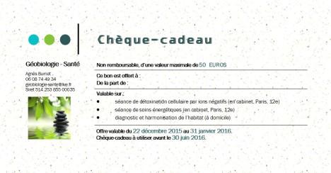 Bon cadeau 2015-2016